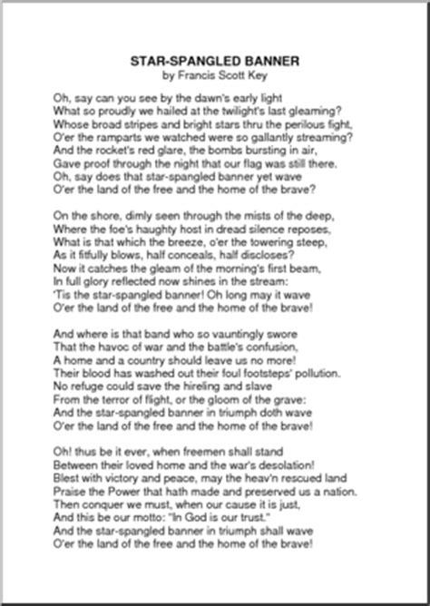star spangled banner lyrics   new calendar template site