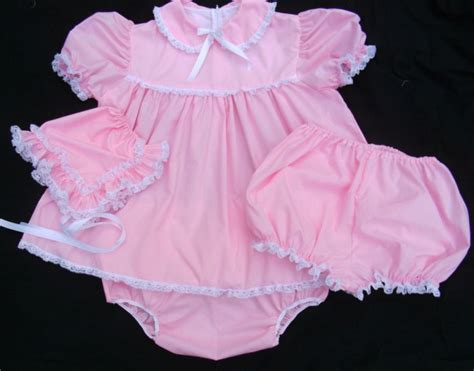 sissy baby in satin dress adult sissy baby 3pc dress set pink