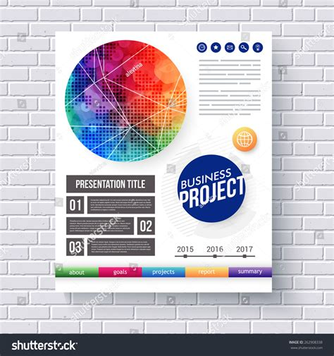 this eye catching editable word eyecatching design business project presentation text stock vector 262908338