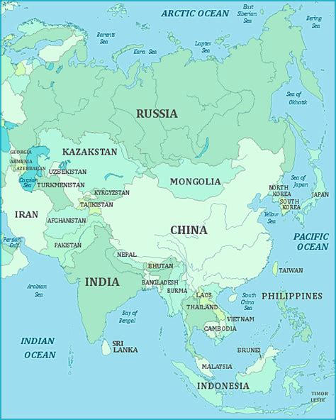 monsoon asia map countries in nanopics asia map region country
