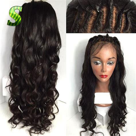 aliexpress human hair brazilian virgin hair lace front wigs body wave glueless