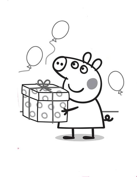peppa pig birthday coloring pages 71 best peppa pig images on pinterest coloring book