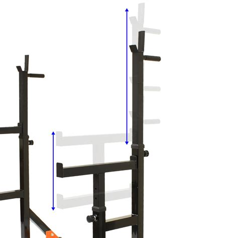 power lift bench mirafit adjustable squat rack dip stand barbell weight