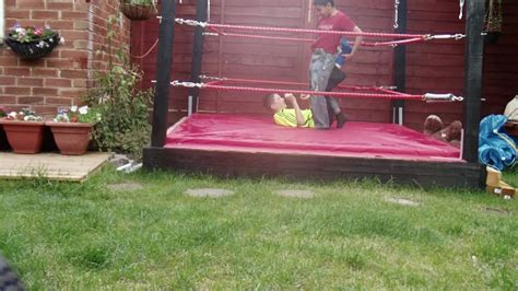 how to make a backyard wrestling ring backyard wrestling in real ring train match youtube
