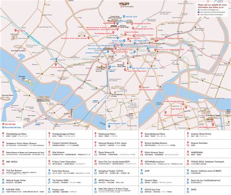 seoul map tourist attractions discover seoul pass klook