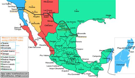 map of us and mexico time zones mexico time zones map in 2015 quintana roo new time zone