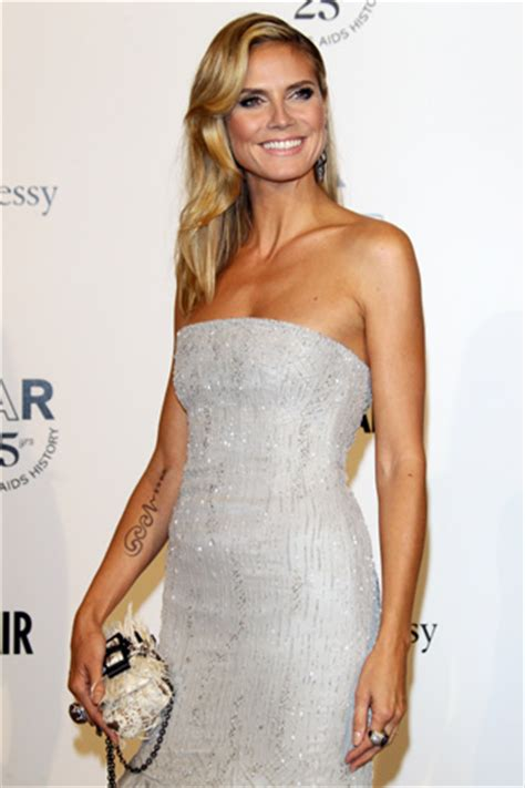 heidi klum tattoo removal heidi klum in process of removing seal