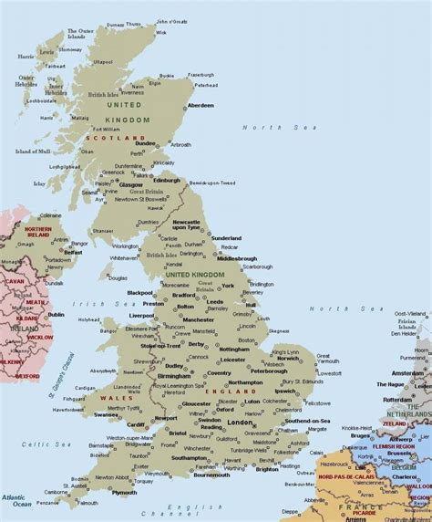 map of northern europe with cities uk map with cities map of britain with cities northern