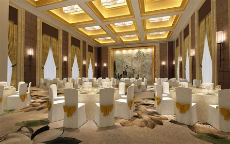 banquet hall 3d model max cgtrader com