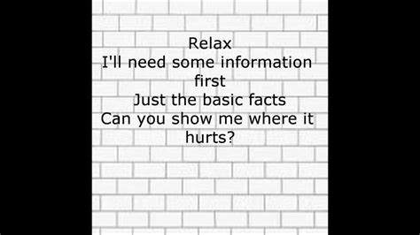 lyrics for comfortably numb pink floyd comfortably numb with lyrics youtube