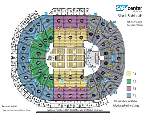 san jose sap map black sabbath sap center san jose ca