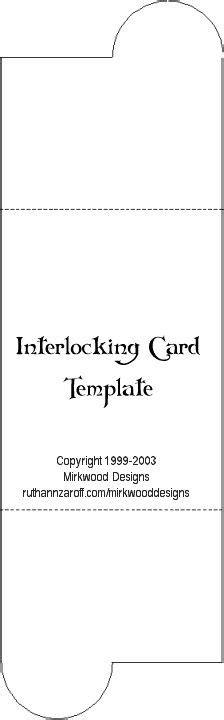 interlocking card template cards interlocking gate fold on card