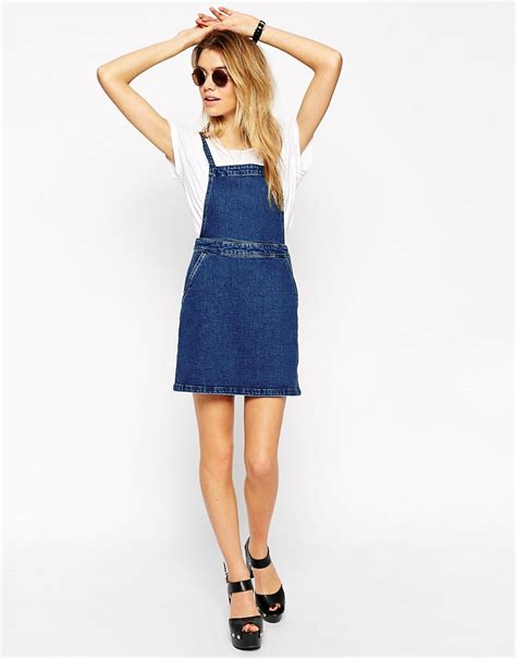 Aline Button Dress book of denim pinafore dress womens in thailand by playzoa
