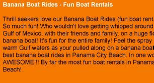 fan boat rides panama city florida panama city beach florida banana boat rides fun boat