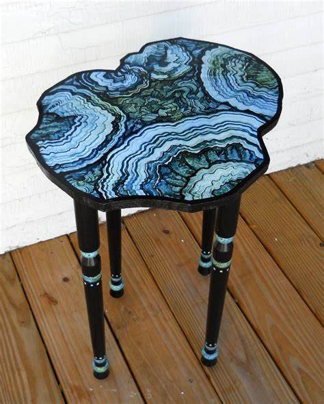 faux agate side table my table project faux agate decorative painting