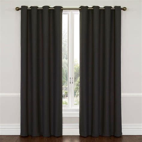 polyester blackout curtains eclipse wyndham blackout charcoal polyester curtain panel