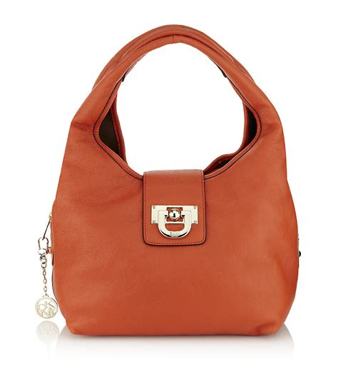 Allens Dkny Bag by Dkny Heritage Vintage Leather Hobo Bag In Orange Lyst