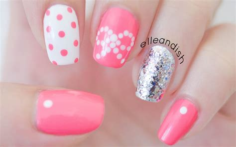 nail pictures easy bow nails using dots