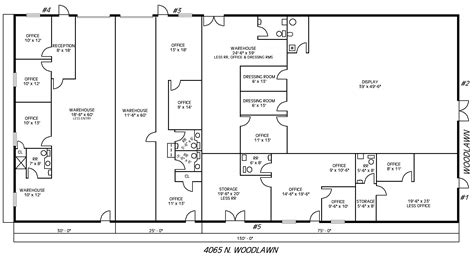 floor plan of a warehouse buck alley rentals available space