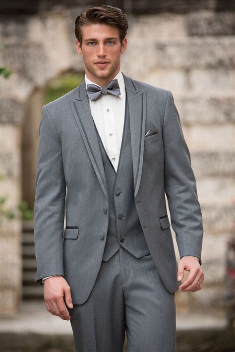 2015 awesome gray men tuxedos polyester custom made formal