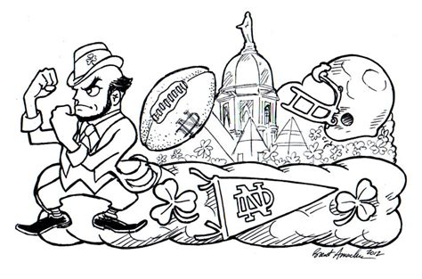 coloring pages notre dame football notre dame logo free coloring pages
