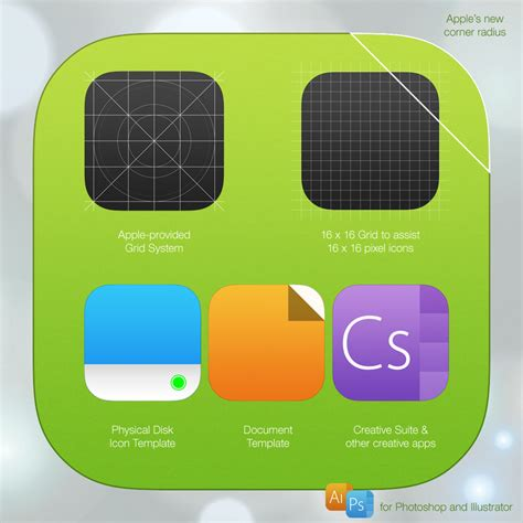 Ios 7 Icon Template Psd Ai By Iynque On Deviantart App Icon Template Illustrator