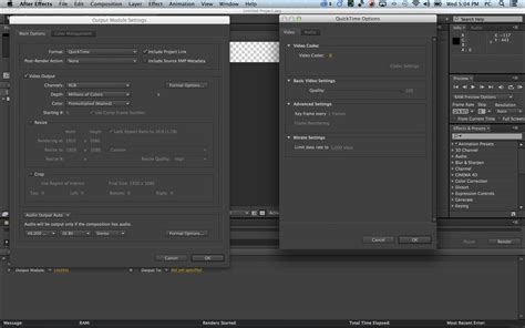 adobe premiere cs6 render settings quicktime for adobe after effects cs6