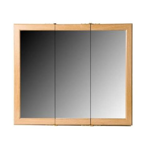 bionic 36 in surface mount mirrored medicine cabinet in