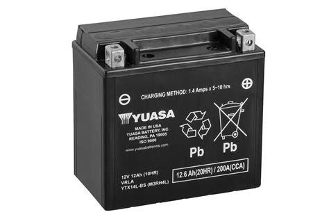 Motorrad Batterie Erhaltungsladeger T Test by Ytx14l Bs Wartungsfrei Motorrad Powersport Batterien