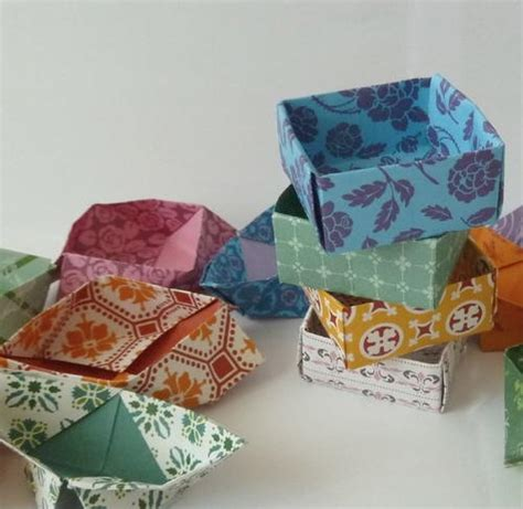 Shaped Origami Box - assorted size and shape origami boxes allfreepapercrafts