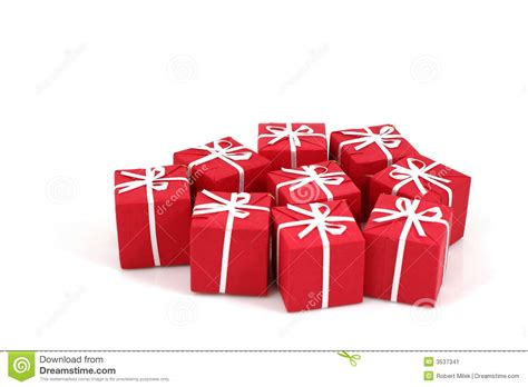 packages of christmas gifts stock image image 3537341