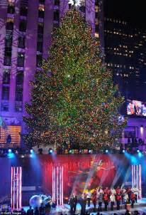 rockefeller center tree lighting 2013 switch is flipped for 81st rockefeller center