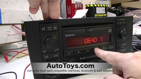 Safe 2 Autoradio Vw by How To Unlock Audi Radio Code Read Safe Mode By Autotoys