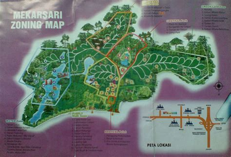 mekarsari fruit park  cileungsi west java indo  map