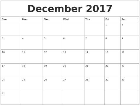 Printablenovember December 2017 Calendar   2017 Calendar