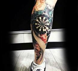 40 dart tattoos for men dartboard design ideas