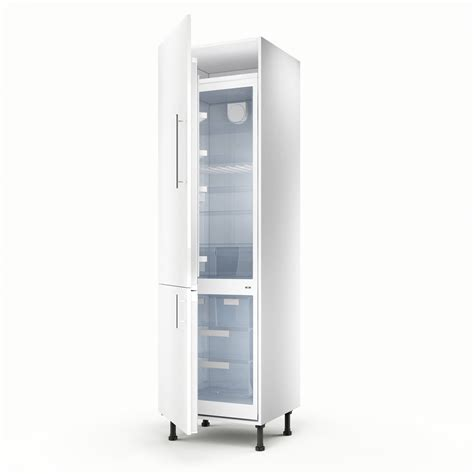 Meuble de cuisine colonne blanc 2 portes Rio H.200 x l.60