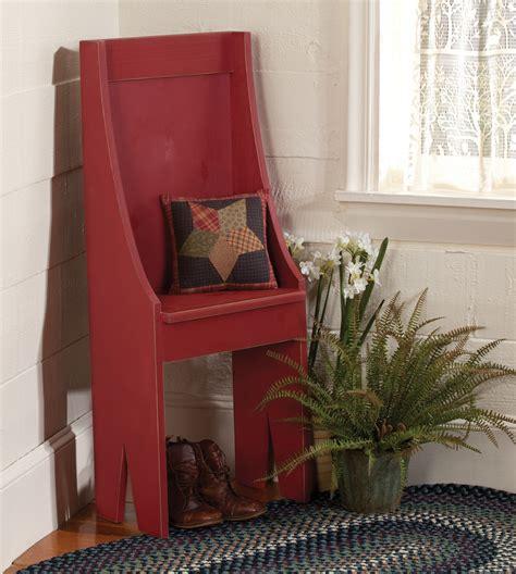 Primitive Entryway Chair Sturbridge Yankee Workshop