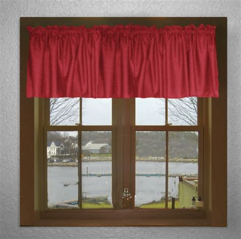 red window curtains red window valances