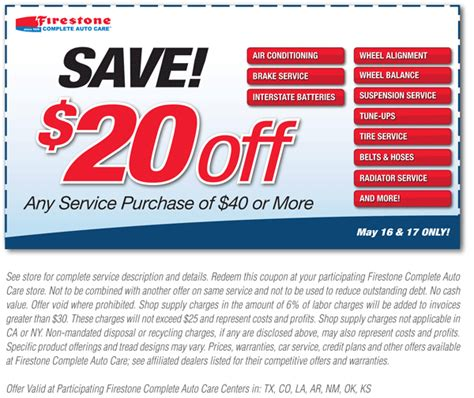 firestone alignment coupon september 2018