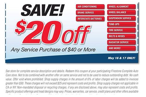 alignment coupon firestone 2018