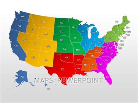 united states map powerpoint template – 50+ Best templates