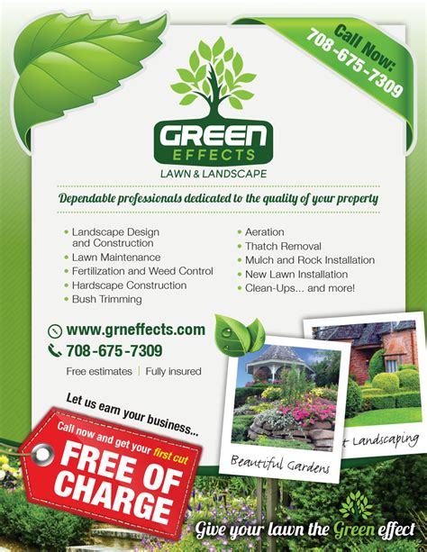 landscaping flyers templates landscaping company flyer design project flyer design