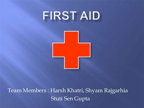 First Aid Ppt Aid Powerpoint Slides