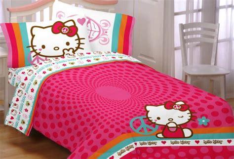 hello kitty twin comforter cheap hello kitty peace kitty twin comforter on sale bed