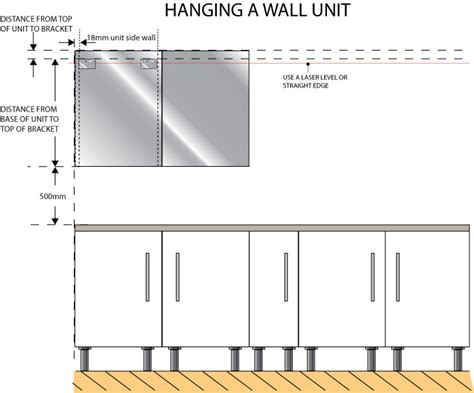 Kitchen Unit Height by Hanging Kitchen Units Ask A Handyman Service