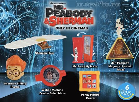 Mister Peabody And Sherman Set Happy Meal Mc Donalds Mcd Mekdi Murah mr peabody sherman happy meal toys