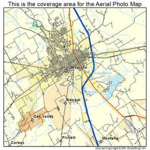 aerial photography map of corsicana tx