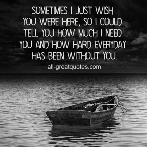 wish you were here death quotes