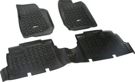 rugged floor rugged ridge floor liner kit for 14 18 jeep wrangler unlimited jk 4 door quadratec